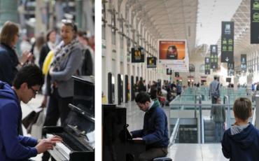 Piano dans la gare