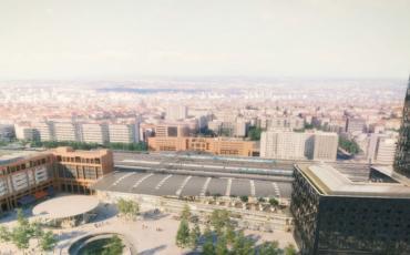 Vue d'ensemble gare de Lyon Part Dieu