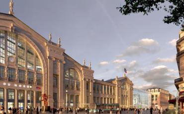 Parvis gare Paris gare du Nord