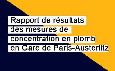 Gare de Paris-Austerlitz rapport de résultats des mesures