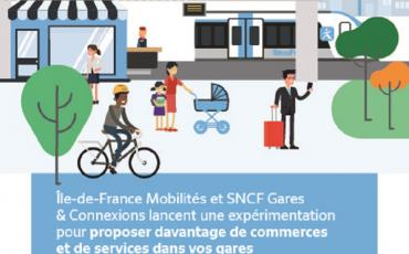 Ile-de-France Mobilités et SNCF Gares & Connexions lancent une expérimentation pour proposer davantage de commerces et de services dans vos gares en Ile-de-France. Vous avez un projet pour votre gare? RDV sur www.garesdedelain.1001gares.fr. Vous pouvez manifester votre intérêt jusqu'au 17 mais 2021.
