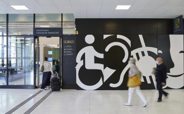 Espace d'accueil voyageur handicapé