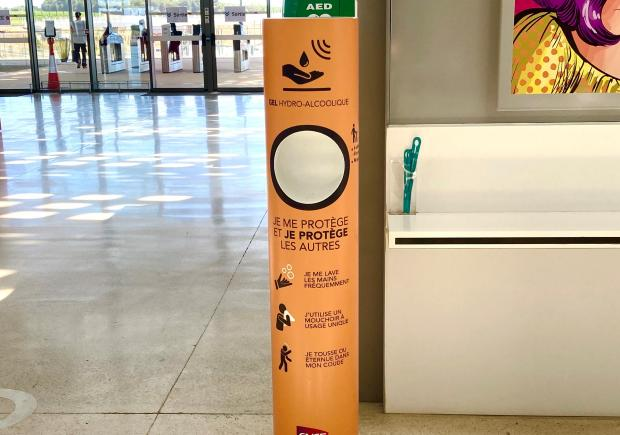 Clean'Box en Gare de Montpellier Sud de France