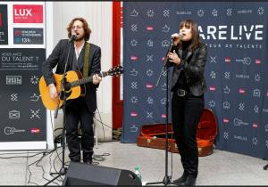 CONCERT DU DUO LUX LE VENDREDI 6 AVRIL 2018 EN GARE DE PARIS SAINT-LAZARE